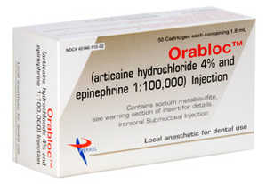 Orabloc 4% Articaine HCl With EPI 1 50/box Rx