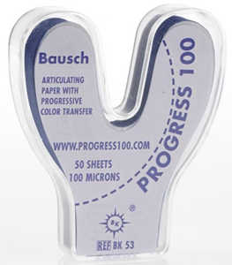 Bausch Progress 100 Articulating Paper