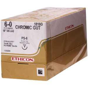 Ethicon 5-0 Suture Chrom Gut 18