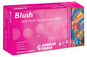 Aurelia Blush Nitrile Powder-Free Exam Glove Pink 200/box