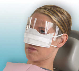 Patient Safety Mask with Shield White 25/box