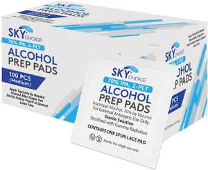 Alcohol Prep Pads Medium 100/Box