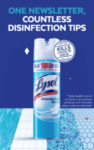 Lysol Disinfectant Spray 12.5oz  Crisp Linen Scent