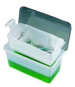 C-Tub Instrument Receptacle Clear Holds 1 gallon Solution