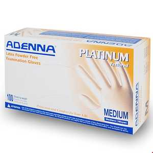Adenna Platinum Latex PF Gloves Natural White, 100/Box