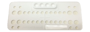 Ortho Bracket Trays Disposable White 25 Pack