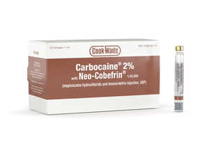 Carbocaine 2% with Neo-Cobefrin Cook-Waite 1.7ml 50/box