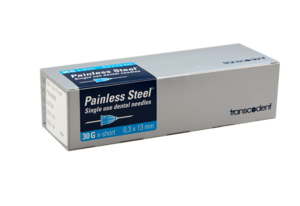 Transcoject Painless Steel Injection Needles 100/box
