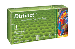 Aurelia Distinct Latex Exam Gloves Powder Free White 100/box