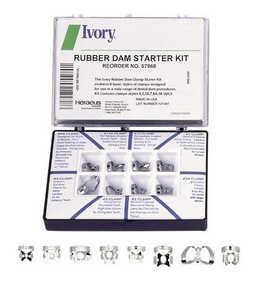 Rubber Dam Ivory 8-Clamp Starter Kit