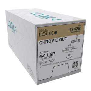 Look Sutures Chromic Gut pack of 12
