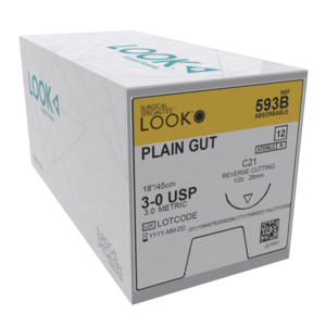 Look Sutures Plain Gut Pack of 12