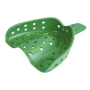 Coe Disposable Spacer Impression Trays Perforated, Green Color 12/Pkg