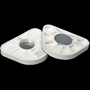 Quickmount Plates White W/Disks 20
