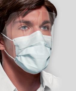 Mask Turquois Isofluid Fog Free w/Shield (25)