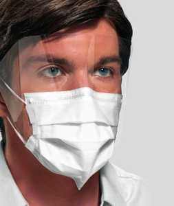 Ultra Sensitive FogFree Earloop Mask w/ Shield w/ Secure Fit Level 3 (25)