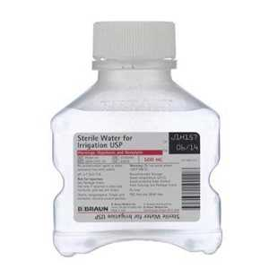 Sterile Water for Irrigation 500ml Bottle Each