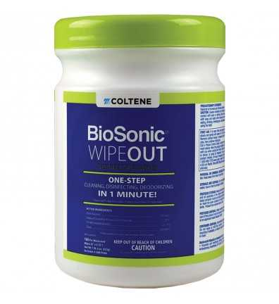 "BioSonic WipeOut 6"" x 6.75"" 160 Wipes /Can"